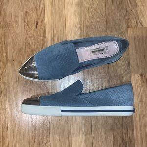 Miu Miu Cap Toe Sneakers/Slip Ons
